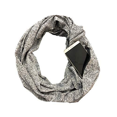 - BANLAN Pocket Scarf Pop Fashion Infinity Scarf Zipper Pattern Print Lightweight Wrap for Women Girls Ladies