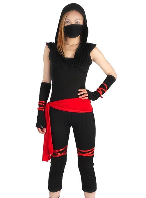 CoolChange Disfraz Ninja para Mujeres, L: Amazon.es ...