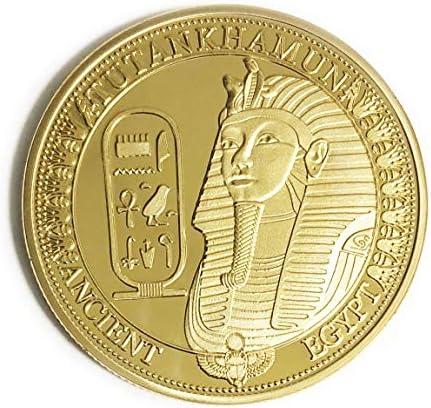 OZUKO Egipcio - Antiguo Tutankamon Pirámides Moneda Conmemorativa Moneda del coleccionista Egipto Rey TUT: Amazon.es: Juguetes y juegos
