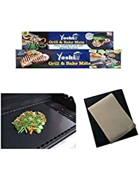 Take 1 Grill Mat & 1 Bake Mat Safe Non-Stick Easy Baking BBQ Grilling Set wholesale