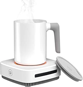 Coffee Mug Warmer, Drink Cooler, Beverage Warmer with Mug, Desk Cup Warmer with Automatic shut off for Tea Water Cocoa Milk Office Desk Home Best Gift, Waterproof and Easy to Clean Mug (Up To 131F/55C)