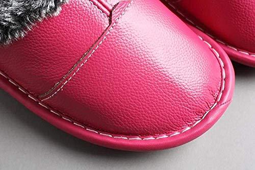 Donna La Per Peluche Morbida Invernale Pantofole Stagione Fuxitoggo Rosso 36 Rose Vino In Antiscivolo Dimensione colore Red Da fAw8cFWqWE