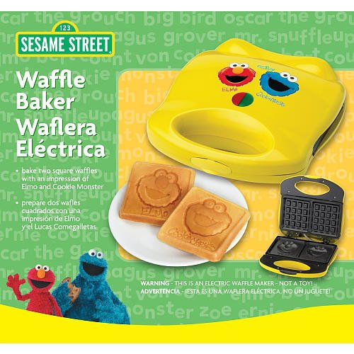 Sesame Street Waffle Maker with Elmo and Cookie Monster by Formula Brands