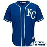 Kansas City Royals Blank Blue Kids Cool Base Alternate Replica Jersey