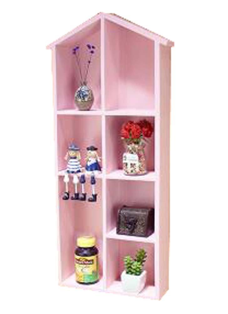 Lovely Creative Wood Storage Shelves Storage Rack Wall Hanged, Pink