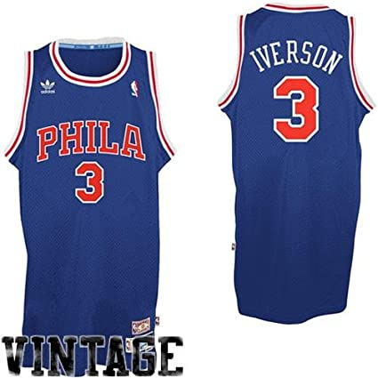 Image Unavailable. Image not available for. Color  adidas Allen Iverson  Philadelphia 76ers Youth Retired Player Swingman Throwback Jersey - Royal  Blue f998909b9