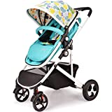 SI YU High Landscape Baby Trolley Can Infant Adjustable Pushchair Pram With Storage Basket Fold Portable Bidirectional Suspension For 0-3 years old (Color : Green)