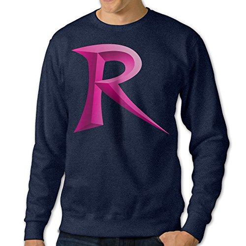 JXMD Men's Team Rocket Crewneck Sweatshirt Navy Size M