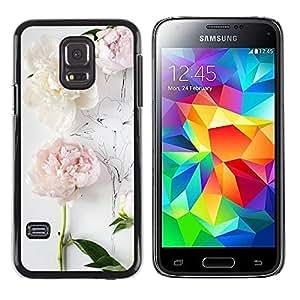 Paccase / SLIM PC / Aliminium Casa Carcasa Funda Case Cover - Composition Art Drawing White - Samsung Galaxy S5 Mini, SM-G800, NOT S5 REGULAR!