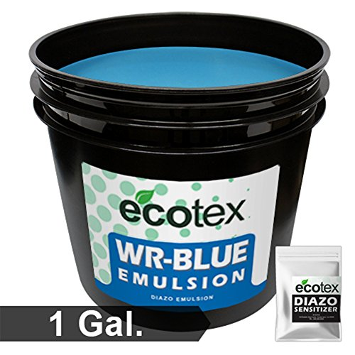 Ecotex WR-BLUE Water Resistant Textile Diazo Screen Printing Emulsion (Gallon) by Screen Print Direct