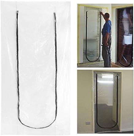Polvo tope de puerta para renovación DIY Kits de construcción de túneles True puerta con cremallera UK: Amazon.es: Bricolaje y herramientas