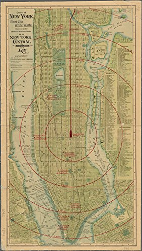Historic 1904 Map   Center of New York, first city of the World. copied 1904 by New York Central Railroad   Maps of New York City and State   Manhattan