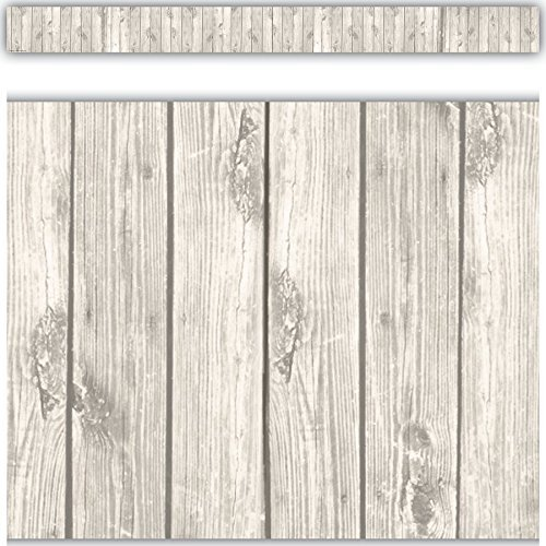 Teacher Created Resources 3563 White Wood Straight Border Trim