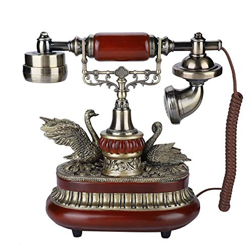(fosa Antique Phone, FSK/DTMF Corded Retro Landline Phones One-Button Redial Vintage Antique Telephone with LCD Display 38-Group Incoming Call Records,Gifts for)