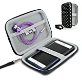 USA Gear Hard Shell iPod Portable Travel Case for Apple iPod Touch (7th, 6th, 5th Generation) iPod Nano with Protective EVA Design, Weather Resistant Exterior, Wrist Strap Polka Dot Pattern