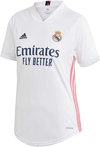 adidas Real Madrid Temporada 2020/21 Camiseta Primera Equipación Oficial Camiseta Primera Equipación Oficial Mujer