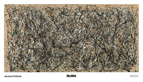 One Number 31 by Jackson Pollock Abstract Contemporary Lines Print Poster 68x39 (Number Lines Print)