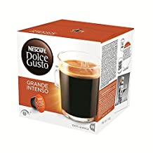 Nescafe DOLCE GUSTO Pods / Capsules - LUNGO / GRANDE INTENSO Coffee = 16 pods (pack of 3 = Total: 48 pods)