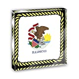 Illinois State Flag Acrylic Office Mini Desk Plaque Ornament Paperweight