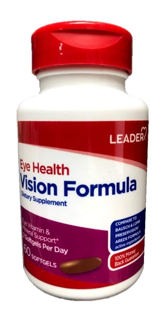 Leader Eye Health Vision Formula, 60 Softgels (Pack of 5)
