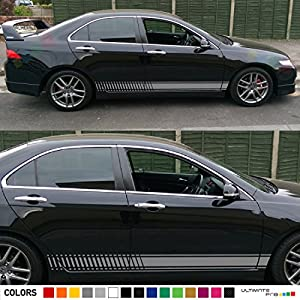 Amazoncom X Decal Sticker Vinyl Side Racing Stripes Compatible - Stickers for honda accord
