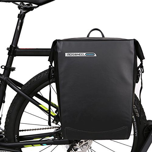 ArcEnCiel Bike Bag Bicycle Panniers Waterproof Rack Trunks Rear Seat Carrier Pack