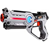 Laser tag Light Battle Active toy gun for kids - Color: white - Lazer tag battle shooting game