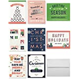 Miliko Holiday Greeting/Christmas Cards Set - 48 Cards & Envelopes - 6 Each of 8 Designs