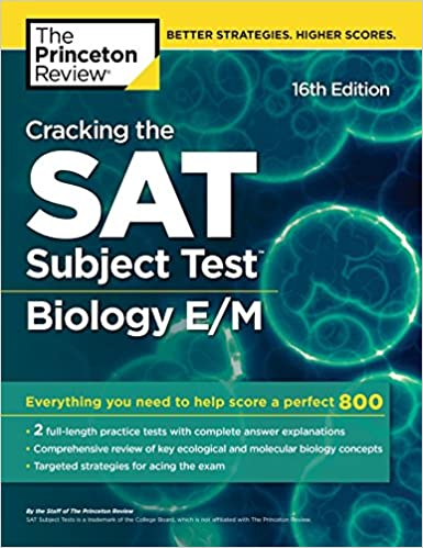 Amazon com: Cracking the SAT Subject Test in Biology E/M, 16th