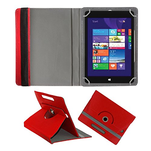 Fastway 360 Degree Rotating Tablet Book Cover for Alcatel A3 10 16   GB 10.1 inch with Wi Fi+4G  Red