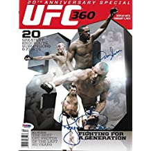 Royce Gracie & Dan Severn Signed 2014 UFC 20th Anniversary Magazine COA - PSA/DNA Certified - Autographed UFC Magazines