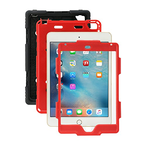 Ipad Mini 4 Case, Aceguarder [New Hot] Outdoor Water proof Shock proof Rain proof Dirt proof Cover Case with Ipad Mini 4 (Black Red) (Tie Dye Ipad 2 Case compare prices)