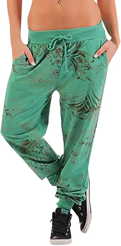 LuckyGirls Chic INS Pantalones Yoga Mujeres, Pantalones Bombacho ...