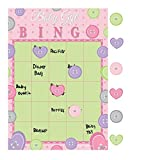 Club Pack of 60 Cute As A Button Pink Baby Girl Bingo Party Games 10''