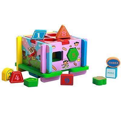 Conjunto De Bloques De Construcción Niños de 3 a 12 años de edad Volumen Geometría de madera Emparejado Bloques de construcción de juguetes Juguetes for niños Juguetes Educativos Para Niños Y Niñas: Hogar