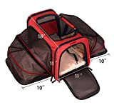 Premium Airline Approved Expandable Pet Carrier by Pet Peppy- TWO SIDE Expansion, Designed for Cats, Dogs, Kittens, Puppies - Extra Spacious Soft Sided Travel Carrier!