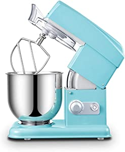 Tilt-Head Stand Mixer,500W Kitchen Food Mixer with Dishwasher Safe Dough Hook Stainless Steel, Electric Mixer with Strong Suction Cups