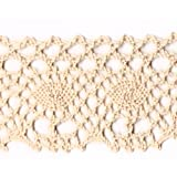 Venus Ribbon L03787 1-1/4-Inch Cotton Cluny Lace, Natural