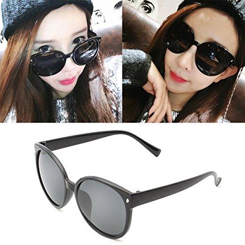 lunettes de soleil mesdames les étoiles de nouvelles nuances de lunettes de soleil élégant de personnalités les visages coréenneboîte noire (sac) grey film ZP4lXMtpV