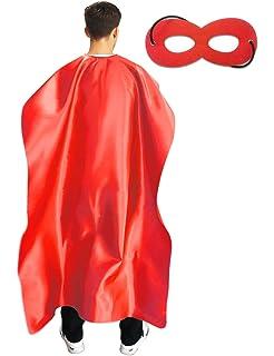 Adult Mens Ladies Unisex Superhero Fancy Dress Kit Cape /& Mask Black Cloak New w