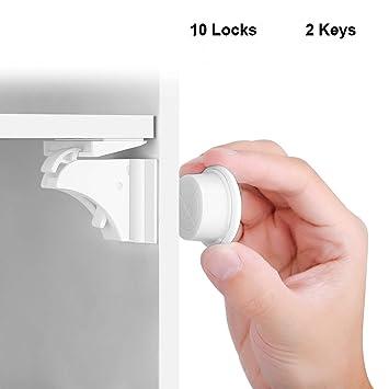 e7fe2df9820 Child Safety Locks HURRISE Baby Proofing Magnetic Cabinet Door Lock Set Kids  Toddler Proof Design for