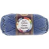 Lion Brand Yarn 761-108 24-7 Cotton Yarn, Denim
