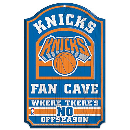 WinCraft NBA New York Knicks 38374012 Wood Sign, 11'' x 17'', Black by WinCraft