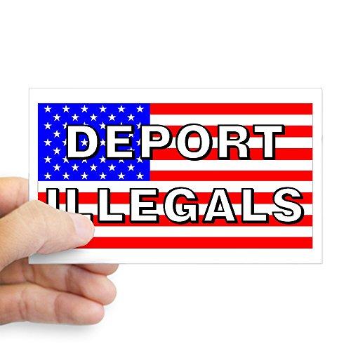CafePress Deport Illegals Rectangle Sticker Rectangle Bumper Sticker Car Decal