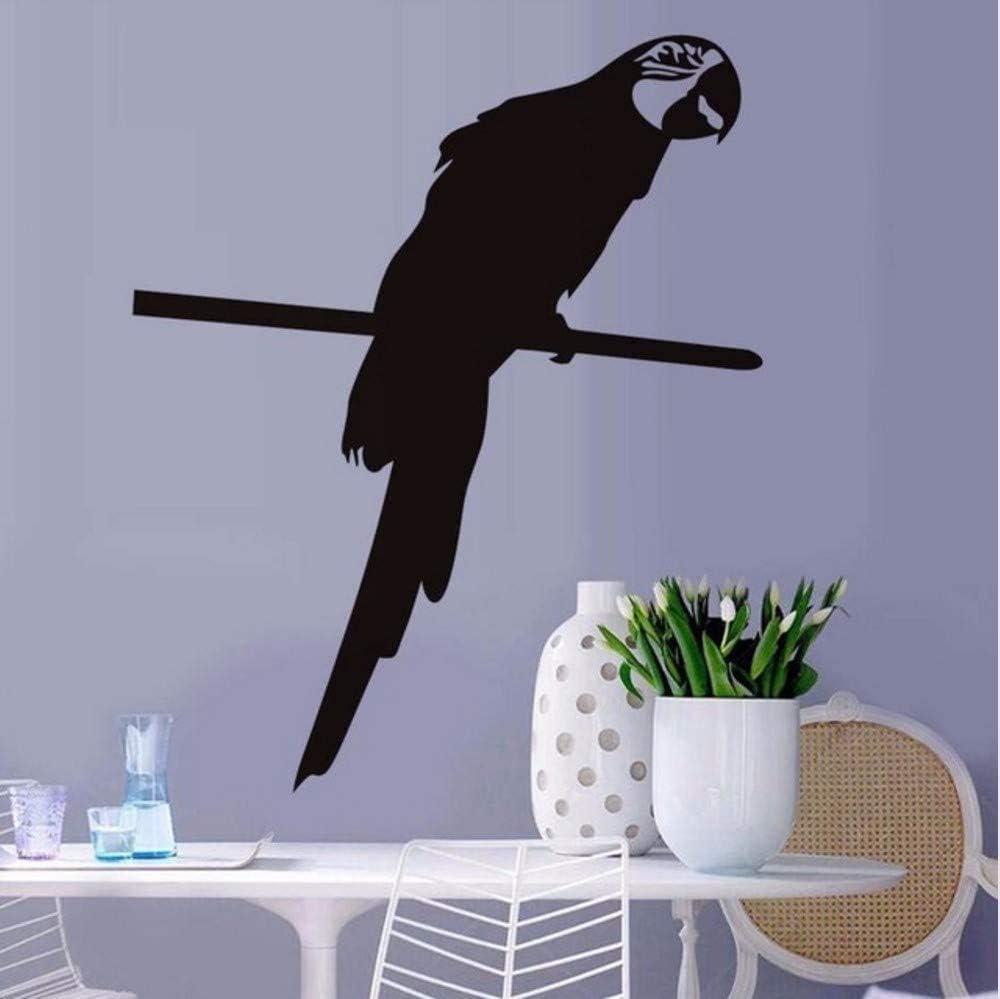 Loro inteligente mascota pájaro animal etiqueta de la pared para sala de estar decoración del hogar calcomanías de vinilo arte dormitorio decoración de la pared para el hogar 58 * 70 cm