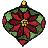 Herrschners® Craftways Stained Glass Poinsettia Latch Hook Kit