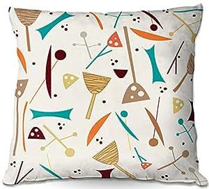 Al aire libre Patio sofá manta almohadas de DiaNoche Designs por Nika Martinez Mid Century Hero crema barbacoa al aire libre ideas