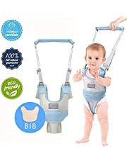 Baby Walking Assistant,Autbye Adjustable Toddler Walking Harness Handle Baby Walker with Detachable Crotch & Bib,Breathable and Comfortable for Toddlers Infant Learning to Walk (Blue-A)
