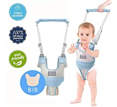 Adjustable Toddler Walking Harness Handle Baby Walker with Detachable Crotch /& Bib,Breathable and Comfortable for Toddlers Infant Learning to Walk Green-b Autbye Baby Walking Assistant
