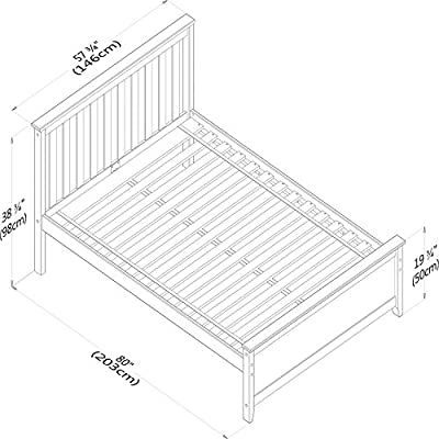 Max & Lily Solid Wood Twin-Size Bed with Trundle Bed, Natural